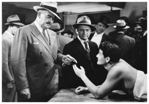 John Garfield, possibly on a Planet pool table getting a talking to from a bouncer. Photo: Movielegends