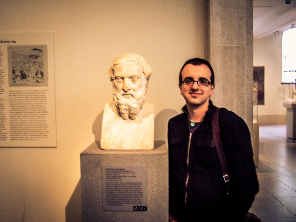Herodotus and I at the Met, NYC in 2011. Only one of us ate a cupcake on the entrance steps to the museum afterward.