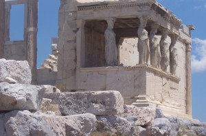 The Caryatid Porch of the Erechtheion, Acropolis.