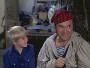 "With Dom DeLuise as Elroy Applegate in ""Today I Am a Ghost""."