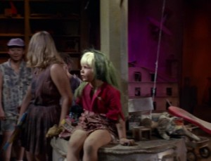 Kellie was credited as Blonde Girl, even with a little green.