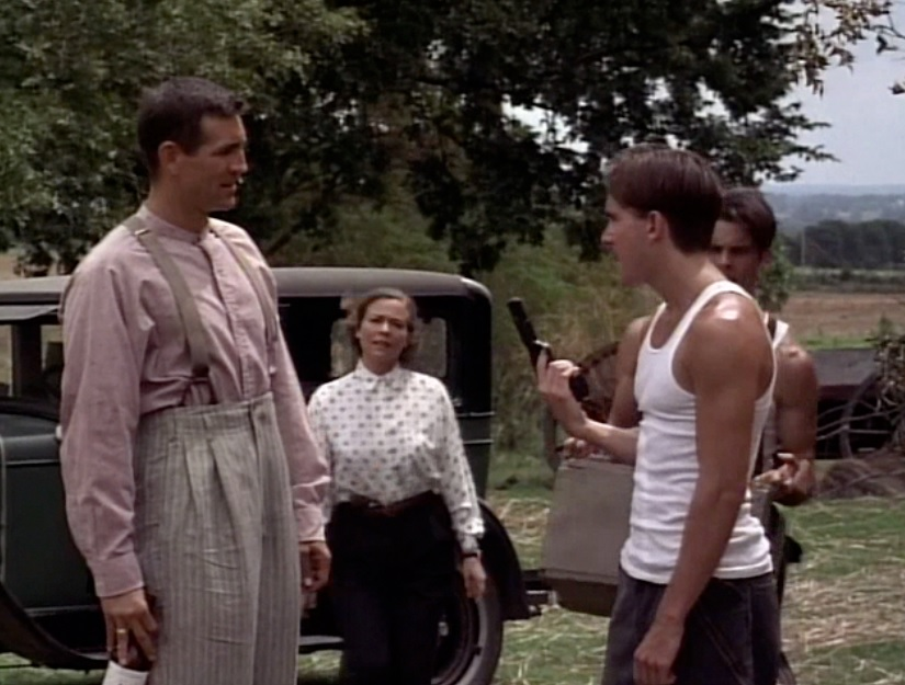 Gavin and Eric Roberts face off (with Theresa Russell and James Marsden).