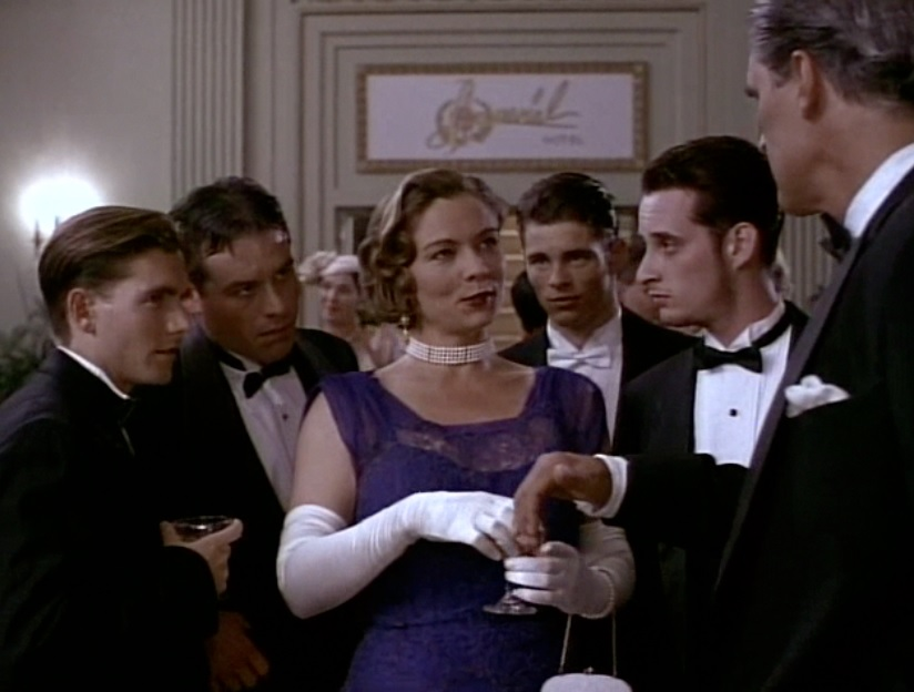 Those not so fabulous Barker Boys: Freddie (Gavin), Herman (Joseph Lindsey), Doc (James Marsden), Lloyd (Joseph Dain), and Ma Barker (Theresa Russell).