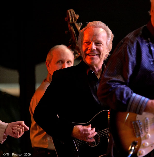 Bobby on stage (Photographer: Tim Pearson. Bobby Vee official website).