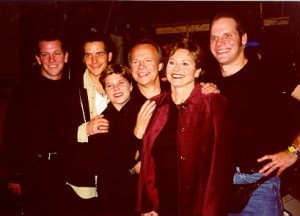 Tommy, Robby, Jenny, Bobby, Karen, and Jeff in 1998 backstage at the London Palladium (Photo: Bobby Vee official website).