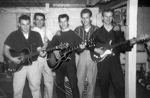 Me and my guitar: Bobby at 14; brother Bill is far-right (Photo: Bobby Vee official website).