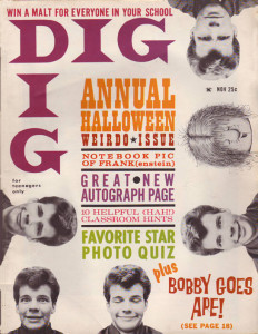 You dig? Cover boy in November 1960 (Photo: Bobby Vee official website).