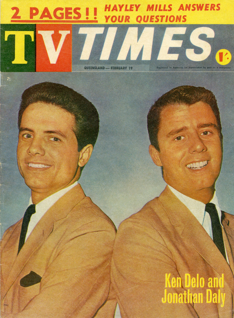 Ken and Jonathan on the cover of TV Times (February 19, 1964).