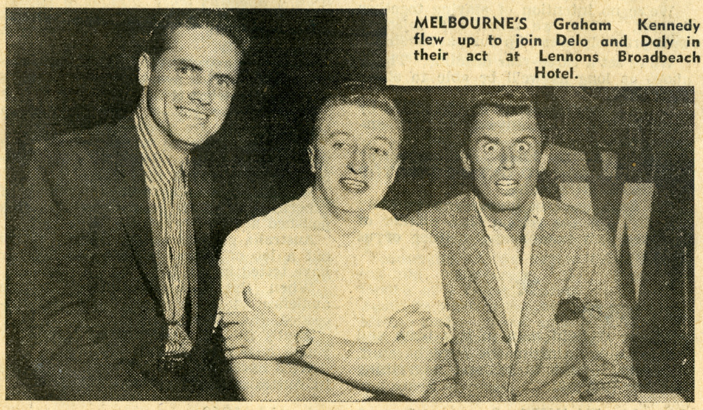 Ken and Jonathan with Graham Kenndy in Brisbane (Photo: TV Week, Adelaide edition, September 7-13, 1960).