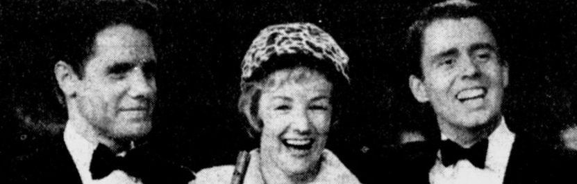 With Julie McKenna (Photo: The Age, TV and Radio Guide Supplement, April 23, 1964).