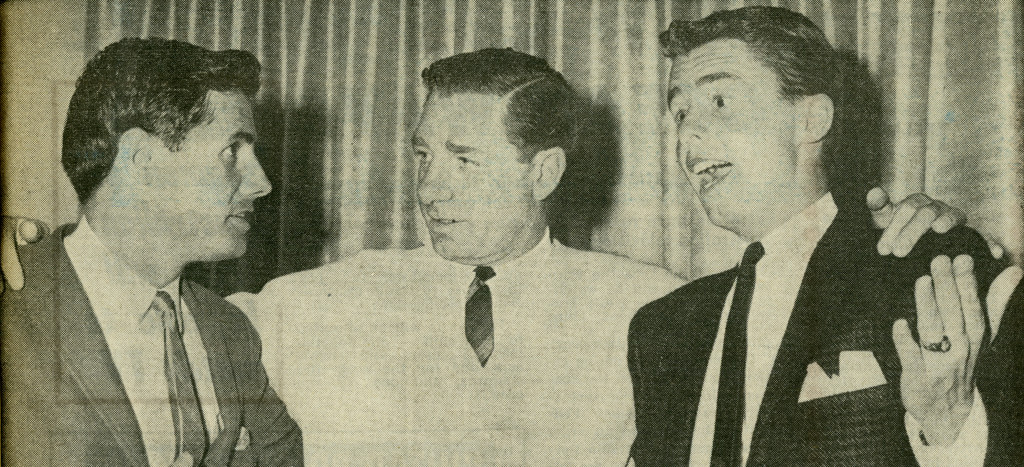 With Norm Spencer (Photo: TV Week, Victoria edition, May 15, 1963).