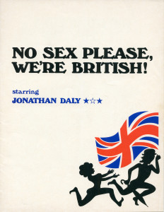 Program cover for No Sex Please, We're British (Adam Gerace private collection).