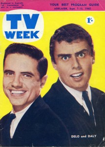 Delo and Daly on the cover of TV Week (September 7-13, 1960) near the end of their 1960 stay in Australia.