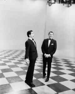 Ken and Jonathan share a laugh on set at The Delo & Daly Show (Photographer: Laurie Richards. Susie Gamble private collection).