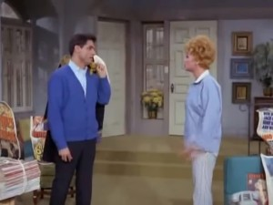 Ken inadvertently gives Lucy an idea for a scheme in The Lucy Show.